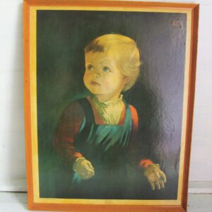 Vintage Childhood by Anna Zinkeison Crying Boy Large Framed Print Famously Cursed 70s 80s