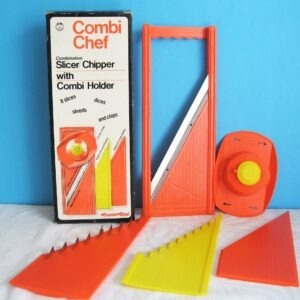 Vintage Combi Chef Slicer Chipper with Combi Holder plus Box and Instructions 1970s