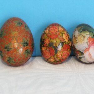 Vintage Decorative Indian Papier Mache Eggs