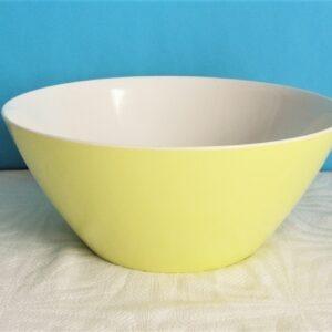 Vintage Gaydon Melmex Melamine Lemon Colour Large Serving Bowl Salad Fruit 60s 70s