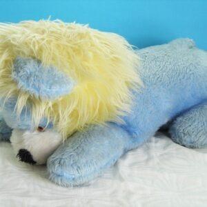 Vintage Gigantic Huge Blue Lion Plush Soft Toy 1970s