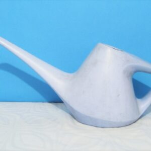Vintage Indoor Watering Can for Houseplants Long Spout Blue Plastic 70s 80s