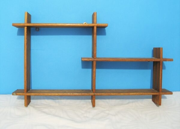 Vintage Mid Century What Not Wooden Wall Shelves 1950s