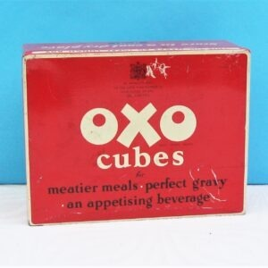 Vintage Red Oxo Tin Lunchbox Sized 1950s Food Advertising
