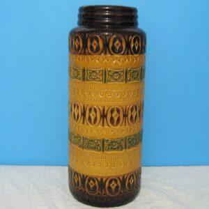 Vintage Scheurich Large Floor Vase Brown Green W Germany 1970s