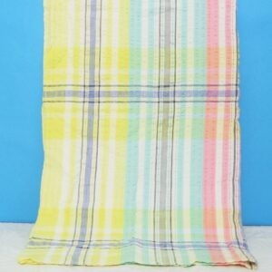 Vintage Tablecloth Gingham Candy Striped Square Small