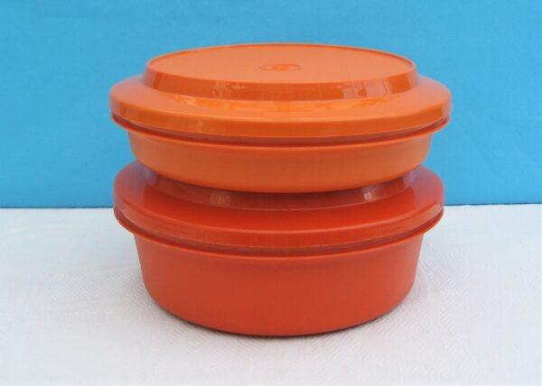 Vintage Orange Tupperware Seal N Serve Bowl or Steamer 70s 80s