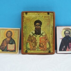 Vintage Religious Icons Greek Orthodox Jesus Holy Saints - 3 to choose from