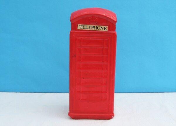 Vintage Ceramic London Red Telephone Money Box Piggy Bank 70s 80s