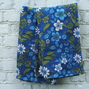 Vintage Flower Power Curtains Blue