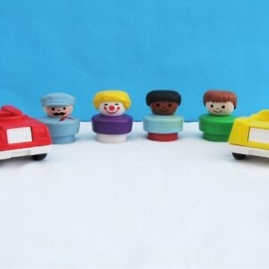 Vintage Fisher Price Chunky People Cars Play Set 1990s