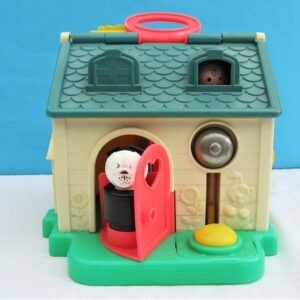 Vintage Fisher Price Discovery Cottage Blue Roof 1984 Pre-School Toy