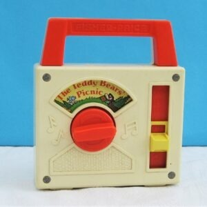Vintage Fisher Price Radio Wind Up Musical Toy Teddy Bears Picnic 1979