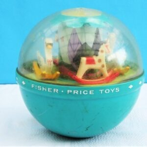Vintage Fisher Price Roly Poly Chime Ball 1972 Baby Toys