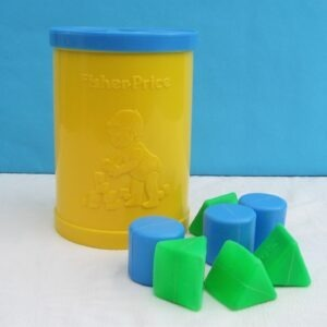 Vintage Fisher Price Yellow Shape Sorter Tub 1977 Pre-School Toy