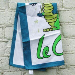 Vintage Geoff George Tea Towel As New Le Croc Design 1970s