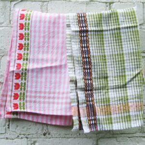 Vintage Gingham Tea Towels