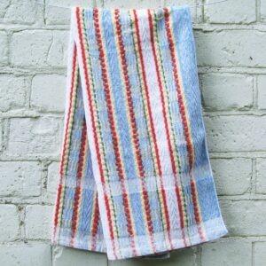 Vintage-Hand-Towel-Multi-Stripes-60s-70s-Campervan-Accessories