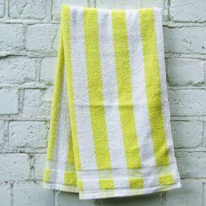 Vintage Hand Towel Yellow Stripes