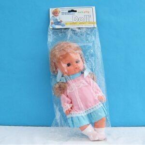 Vintage Doll Little Girl Clothed Pigtails Dres Up Vinyl Body 80s 90s Deadstock