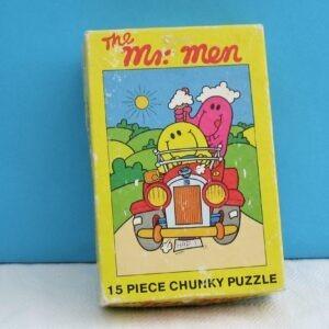 Vintage Mr Men Chunky Puzzle 15 Pieces Complete