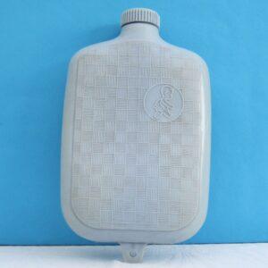 Vintage Fairy Hot Water Bottle Hard Plastic Baby Blue Screw Top 50s 60s