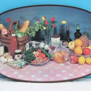 Vintage Kitsch Serving Tray with handles 1980s
