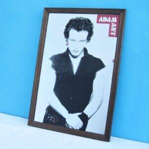 Vintage RARE Adam Ant Printed Mirror 80s Pop Star Teenage Bedroom Wall