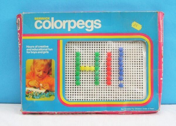 Vintage Berwick Colorpegs Game Educational Creative Toy 70s 80s