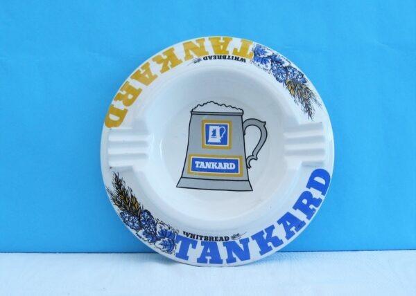 Vintage Large Ceramic Pub Ashtray Whitbread Tankard by W King 60s 70s