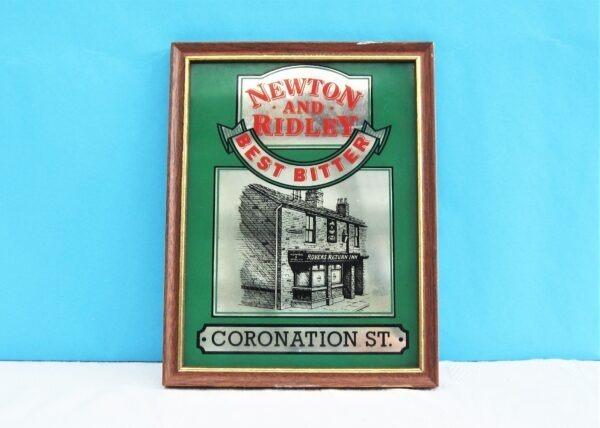 Vintage Coronation Street Pub Mirror Rovers Return Newton Ridley 70s 80s