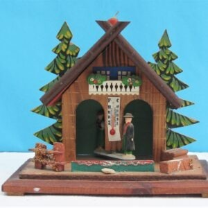 Vintage German Weather House Thermometer Black Forest Made in GDR 60s 70s