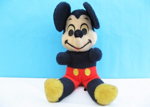 Vintage Large Mickey Mouse Disney Plush Soft Toy by California Stuffed Toys 1960s