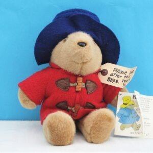 """Vintage Original Paddington Bear Teddy Plush Toy 10"""" Eden Toys 80s 90s"""