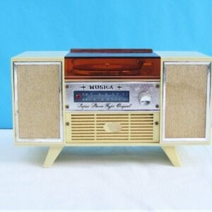 Vintage RARE Record Player Stereo Musical Jewellery Box by Echo Industrial Co Japan 1960s