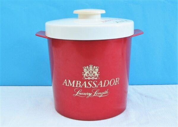 Vintage Red Insulex Pub Ice Bucket Insulated Plastic Ambassador Branding 70s 80s