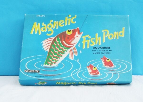 Vintage Spears Magnetic Fish Pond Game 1970s Complete