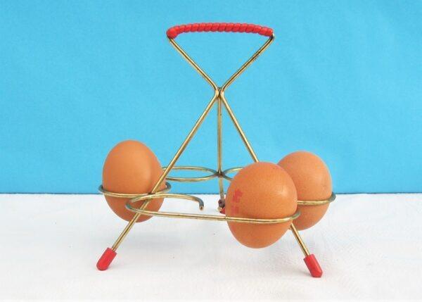 Vintage Atomic Wire Egg Holder Sputnik Kitchen Accessories 50s 60s