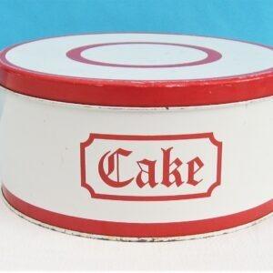 Vintage Regency Ware Red Stripe Round Cake Tin 50s 60s